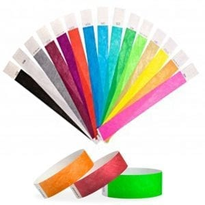 Lot de 100 bracelets tyvek indéchirables