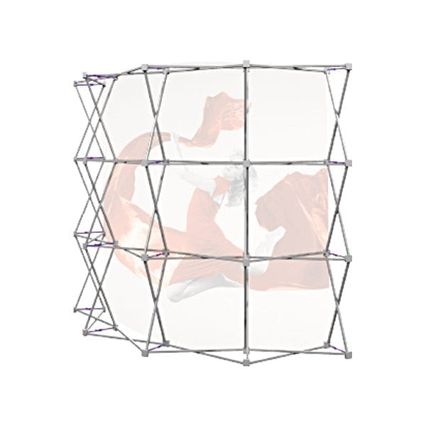 stand parapluie courbe tissu 3x3 textile stand mobile structure