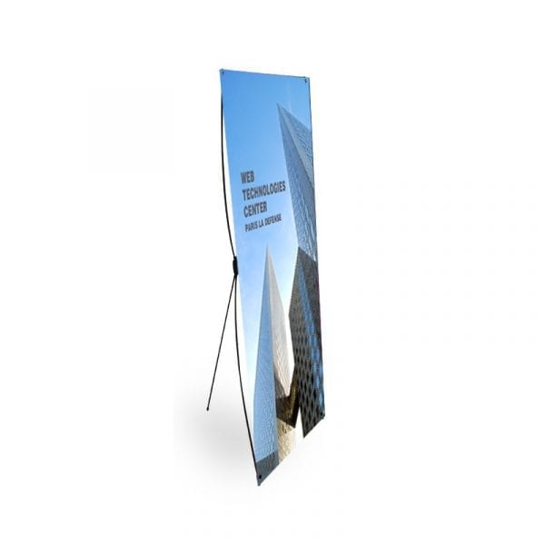 X Banner kakémono format 60x160 cm stand mobile