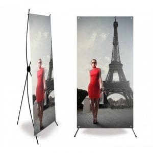 X Banner kakémono format 80x200 cm stand mobile