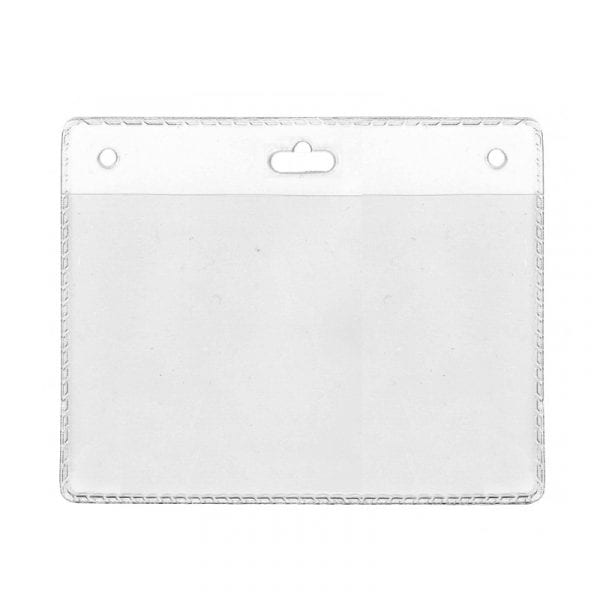 porte badge 105x70 grande taille porte carte souple perforation oblongue
