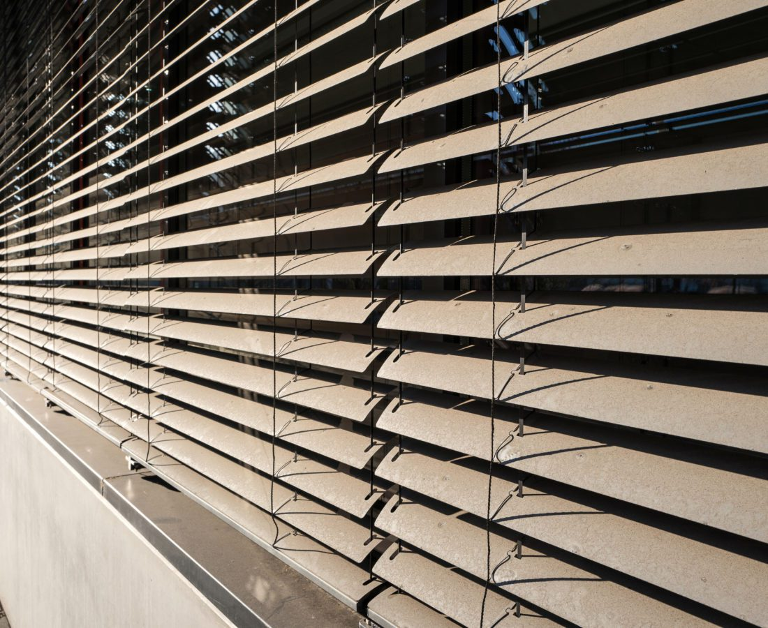detail view of closed window blinds